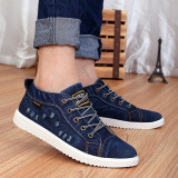 Review Men Women Denim Casual Canvas Cowboy Ankle Shoes Fashion Unisex Flat Canvas Sneakers Shoes Casual Distressed Denim Shoes Lovers Canvas Shoes Navy Blue Shoes Intl Oem