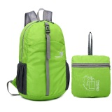 Discounted Men Women Nylon Lightweight Foldable Backpack Handy Collapsible Portable Daypack Travel Folding Bag Water Resistant Green Intl