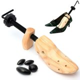 Price Men Women Wood Wooden 2 Way Shoe Shoes Tree Length Width Stretcher Shaper 43 46 L Size Online China