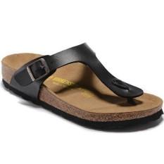la meilleure attitude 1bde3 6b782 Men's Birkenstock Ramses Gizeh Flat Birko-Flor Flip Flops Slipper Size  35-41 (Black) - intl