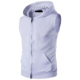 Cheapest Men S Fashion New Large Pocket Zipper Hooded Solid Color Ou Code Multi Color Choice Intl Online