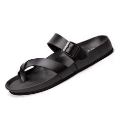 Men S Fashion Word Flat Slippers Sandals Summer Men Sandals High Quality Soft Beach Flip Flops Eva Massage Slippers Black Intl Oem Discount