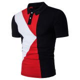 Best Reviews Of Men S Men Polo Shirt Fashion Flower Print Polo Slim Fit Shirts Black Black