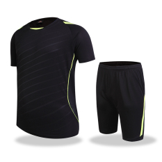 Brand New Men S Short Sleeve Shorts Training Quick Drying Fitness Clothes 107 Black Suit