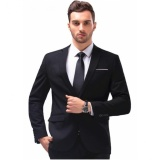 Sale Men S Slim Fit Stylish Casual One Button Suit Coat Jacket Business Blazers Men Coat High Quality Men Blazers Intl On China