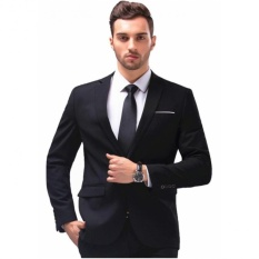 Men S Slim Fit Stylish Casual One Button Suit Coat Jacket Business Blazers Men Coat High Quality Men Blazers Intl On China