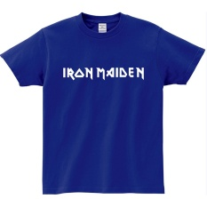 Men S T Shirt Iron Maiden Rock Band T Shirts For Men Tops Summer T Shirt Many Colors 002 Blue Intl Sale