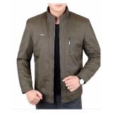 Top 10 Men S Brand Korean Business Casual Jacket Bomber Male Mandarin Collar Zipper Jacket Plus Size S 3Xl Khaki Intl