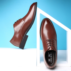Buy Men S British Business Real Leather Pointed Shoes Shallow Brown Shallow Brown Online