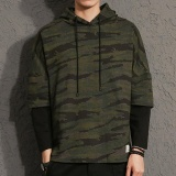 Sale Men S Camouflage Full Sleeve Hooded Casual Hoodies Green Intl On China