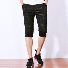 Who Sells Men S Casual Camouflage Jogger Capri Pants Black Intl The Cheapest
