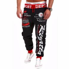 Review Mens Casual Jogger Dance Sportwear Pants Trousers Sweatpants Black Intl Oem