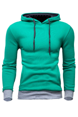 Buy Men S Casual Slim Fit Sweatshirt Hoodie Coat Hooded Jacket Overcoat Green Oem