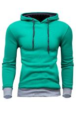 Retail Men S Casual Slim Fit Sweatshirt Hoodie Coat Hooded Jacket Overcoat Green