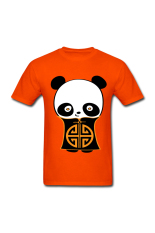 Buy Men S Chinese Panda Designed T Shirt For Orange Intl