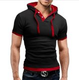 Best Rated Men S Contton Polo Hooded T Shirts Casual Fashion Black Red Intl