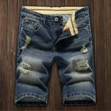 Men S Denim Hole Middle Pants Frayed Fifth Jeans Breeches Jeans Pirate Shorts For Men Hot Pants Intl In Stock