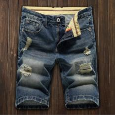 Price Men S Denim Hole Middle Pants Frayed Fifth Jeans Breeches Jeans Pirate Shorts For Men Hot Pants Intl On China