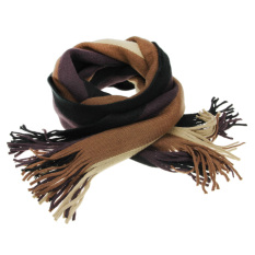 Buy Mens Fashion Cashmere Stripe Scarves All Match Scarf Wraps For Men In Autumn Winter Coffee Intl Online