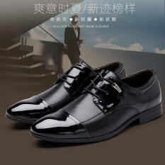 Men S Fashion Leather Shoes Business Shoes Big Size Pointed Bright Shoes Intl Price