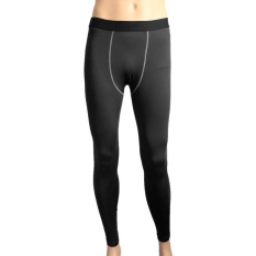 Mens Football Compression Shorts Long Pants Sports Underwear Base Layers Tights Black L Intl On Line