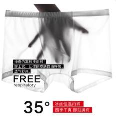 Cheap Mens Ice Silk Boxer Briefs 3 Pack Soft Underwear Pack (Random Color) Intl Online