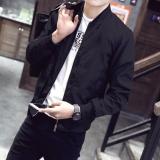 Compare Price Men S Jackets Fashion Coats Casual Slim Baseball Bomber Jacket Black Intl On China