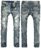 Men S Jeans Large Size Men Cotton Ripped Scraping White Jeans Men S Wear Hole Pencil Pants Intl Puriss Discount