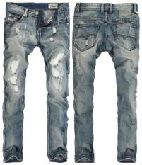 Sale Men S Jeans Large Size Men Cotton Ripped Scraping White Jeans Men S Wear Hole Pencil Pants Intl Puriss