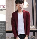 Where Can You Buy Men S Lapel Open Front Cardigan Burgundy