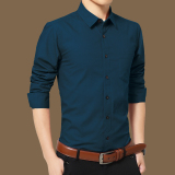 Men S Korean Style Stylish Casual Long Sleeve Shirt China