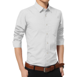 Latest Men S Korean Style Stylish Casual Long Sleeve Shirt