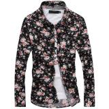 Compare Floral Print Fashion Long Sleeve Autumn Floral Print Men S Casual Shirt Men Shirts No 2 Color No 2 Color
