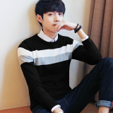Price Korean Style Knit Male Thin Base Shirt T Shirt 1701 Black China