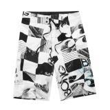 Cheapest Mens New Fashion Boardshorts Drawcord Dry Flight Beach Shorts Surfing Shorts Grey White Black Size S M L Xl Xxl Intl