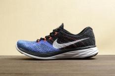 Best Rated Men S Nike Flyknit Lunar 3 Running Shoes 698181 005 Black Blue Intl