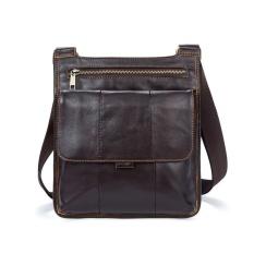 49313148e26a Mens Oil wax leather messenger bags Lightweight shoulder bags Coffee - intl