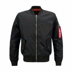 Purchase Mens Plus Size Solid Flight Collar Bomber Jacket Intl Online