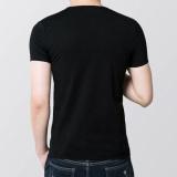 Wholesale Mens Slim Fit V Collar T Shirt Short Sleeve Shirt Casual Tee Tops Bk Xl Intl