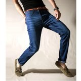 Get Cheap Mens Straight Jeans Breathable Stretchy Jeans Summer Thin Denim Pants Large Plus Size Trousers Intl