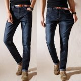 Wholesale Mens Straight Jeans Breathable Stretchy Jeans Summer Thin Denim Pants Large Plus Size Trousers Intl