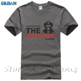 Mens T Shirts Have No Fear Firefighter Is Here Short Sleeve Cotton T Shirt Charcoal Intl Coupon Code