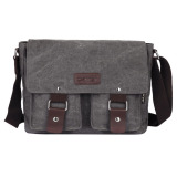 Price Men S Vintage Canvas Sch**l Satchel Shoulder Messenger Bag Gray Intl Unbranded Online