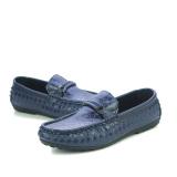 Review Men S Woven Sandals Driving Shoes Peas Shoes Fashion Comfortable Blue Z