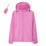 Men Women Anti Uv Lightweight Quick Dry Skin Windbreaker Breathable Hooded Jackets Pink Intl Discount Code