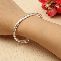Mf Healing Copper Magnetic Therapy Bracelet Bangle Arthritis Pain Relief Twisted Silver New Intl Oem Cheap On China