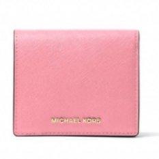 Price Michael Kors Jet Set Travel Saffiano Leather Card Case Misty Rose On Singapore
