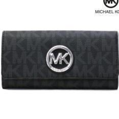 Top 10 Michael Kors Women S Carryall Fulton Accordion Long Signature Monogram Silver Tone Logo Wallet Black