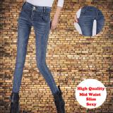 Buy Mid Waist Stretch Women Jeans Slim Pencil Pant Feet Ladies Trousers Intl