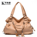 Cheaper Middle Aged Mom Bag 2017 Autumn New Style Large Capacity Tassel Handbags Fashion Shoulder Messenger Handbag Large Bag Casual Color